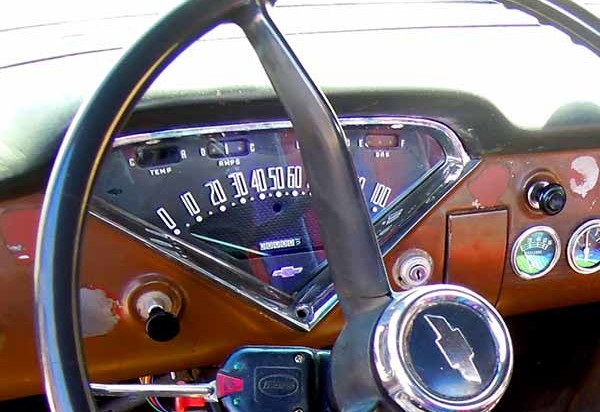 59ChevyTruckDash 600x412 1959 chevy apache truck instrument cluster seven wanders the world Under Dash Wiring Harness at bakdesigns.co
