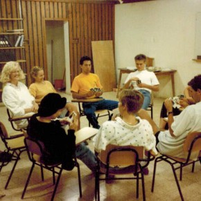 """My """"ulpan"""" class learning Hebrew (I'm taking the photo)"""